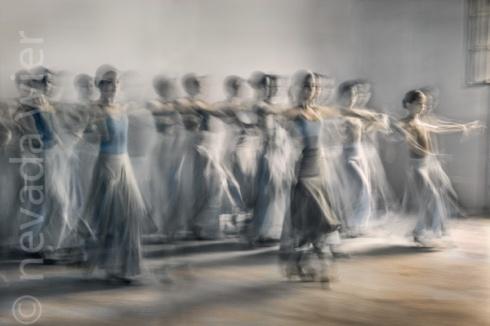 Cuba. Havana. Ballet Lizt Alfonso Dance Cuba. Digital Infrared.